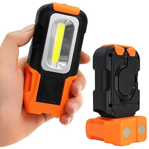 Auplew Cob Taschenlampe Tragbare Arbeitslicht 200 Lumen 5000 Karat Tageslicht Magnetfuß Hängen Haken Für Auto Reparatur Blackout Notfall