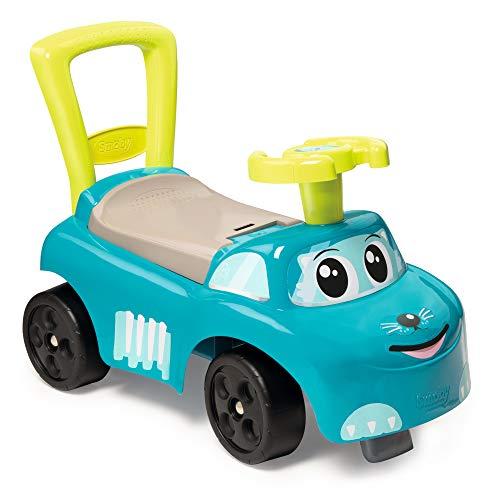 Smoby 720525 Mein erstes Auto Rutscherfahrzeug, Kinderfahrzeug mit Staufach und Kippschutz, für drinnen und draußen, für Kinder ab 10 Monaten, Blau