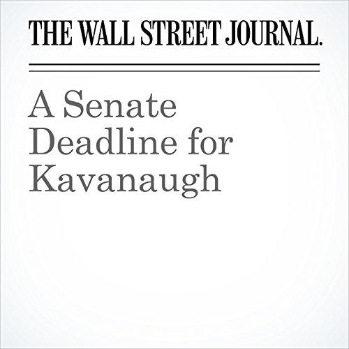 A Senate Deadline for Kavanaugh copertina