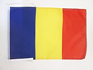 AZ FLAG Bandera de Andorra Civil 45x30cm - BANDERINA Andorran SIN Escudo 30 x 45 cm cordeles