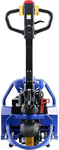 1500 kg Capacit/à di sollevamento caricabatterie e batteria incl 3 ore Tempo di funzionamento Transpallet con batteria agli ioni di litio 1150 mm lunghezza della forcella
