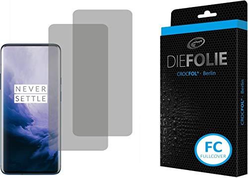 Crocfol Schutzfolie vom Testsieger [2 St.] kompatibel mit OnePlus 7 Pro - selbstheilende Premium 5D Langzeit-Panzerfolie - für vorne, ganzes Bildschirm