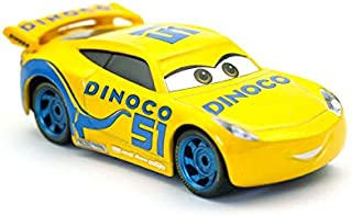 Desconocido Disney Disney Pixar Cars 3 Dinoco Cruz Ramirez Metal Diecast Toy Car 1:55 Loose In Stock & White