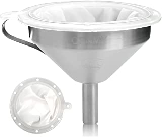 THETHO Entonnoir Filtrant de Cuisine en Acier Inoxydable 13cm Passoire Alimentaire Plastique(200+400 Mesh) Idéal pour la F...