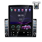 AMPrime Double Din Android Car Stereo with Bluetooth 9.7''Touch Screen Radio FM Turner Support WiFi GPS Mirror Link for Android iOS Phone + Backup Camera Dual USB Cable