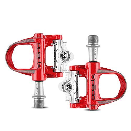 OQJUH Pedali Bici Pedali Bici da Bicicletta Pedali Mountain Bike MTB Pedali Ibridi Bici , per Universal BMX Mountain Bike Road Bike Trekking Bike,Red