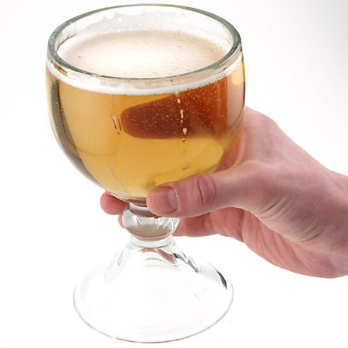 Libbey Schooner Beer Glass - 21 oz (2 Pack) w/Free Pourers
