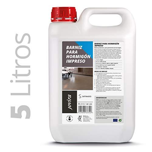 BARNIZ PARA HORMIGÓN IMPRESO Resina protector satinado para pavimentos de hormigón. (5 Litros)