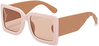 EFXGYHSAQ - Gafas De Sol Hombre Mujeres Ciclismo Gafas De Sol Cuadradas De Gran Tamaño A La Moda para Mujer, Gafas Graduadas Vintage, Gafas De Sol para Hombre con Patas Anchas
