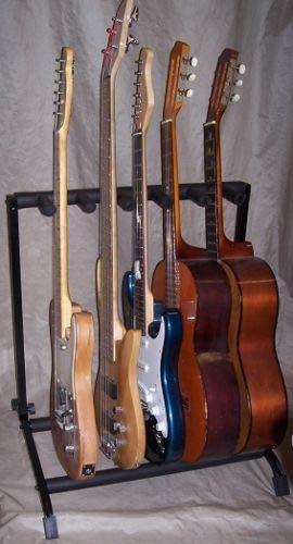 Rastrelliera Stand per chitarra - Supporto per 5 chitarre e Bassi