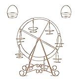 Leoie Tortenständer für 8 Cups, Rotgold, Riesenrad, für selbstgemachtes Backen