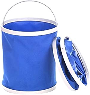 9L Collapsible Bucket, No Leakage Car Wash Bucket, Multi-function Outdoor Portable Folding Pail Fishing Cleaning Water Con...