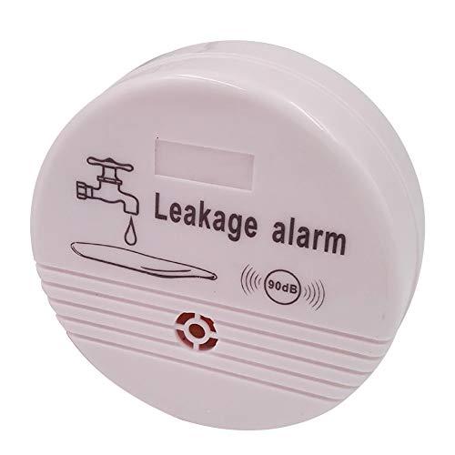 Wasserleck-Alarm Detektor, automatischer Leckwasser-Alarm, drahtloser Detektor, Haus-Sicherheitsmonitor, praktisch für Haushaltsbedarf Free Size weiß