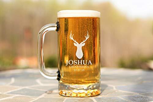 Taza de cristal, regalo para amantes de la cerveza, regalos para padrinos,...