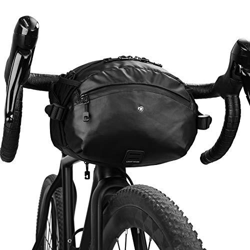 Rhinowalk Bike Handlebar Bag, Multifunctional Bike Bag Included Waterproof Bike Cover Bike Front Bag with Waist Strap Multi-Compartment for Cycling Accessories, Water Bottles