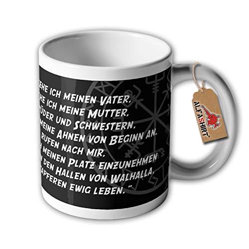 Tasse Wikinger Gebet Germanen Viking Nordmann Kaffee Tasse Alfashirt #34274