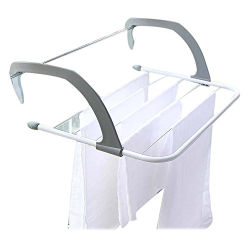 Lanceasy Collapsible Towel Clothes Hanger Heat Resistant Hanging Type Multi-Purpose Radiator Clothes Horse & Creative Home