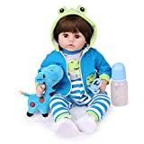 Charex Reborn Baby Dolls 22 Inch Soft Weighted Baby Reborn Boy Lifelike Reborn Toddler Dolls Realistic Real Reborn Baby That Looks Real Newborn Baby Dolls for Age 3+