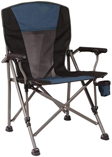 GBLight Sun Lounger Folding Padded Camping Chair for Professional use with high Back, Cup Holder (Color : 1#)