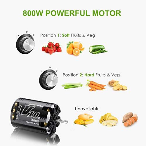 Zentrifugenentsafter 800W für Obst und Gemüse Bild 2*