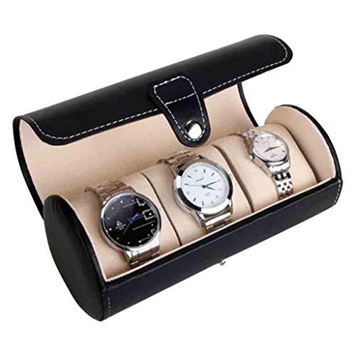 Watch Jewelry Boxes Leder Watch Roll Box Traveller'S Watch Storage Organizer 3 Uhren für Männer und Frauen Watch & Jewelry Große Holder Boxes GIF Roscloud@