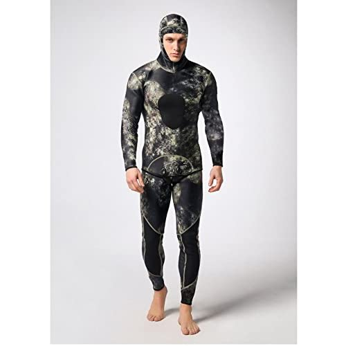 d1f14918e25 Mounchain Wetsuit Mens 3mm Camo Wetsuits with Super-stretch Armpit for  Diving Snorkeling Swimming Mimetic