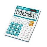 WAGA Electrónica de Oficina Calculadora de Escritorio electrónica con 12 dígitos Pantalla Grande, la batería Solar de la Pantalla LCD de la calculadora de Oficina Regalo para Mujeres (Color : Blue)