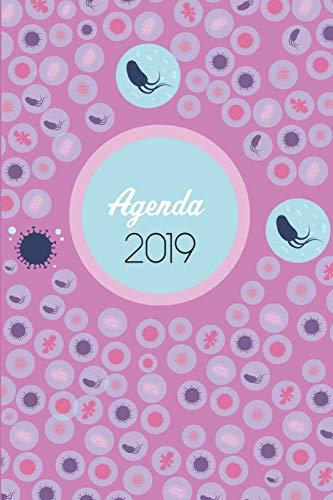 Agenda 2019: Agenda Mensual y Semanal + Organizador I Cubierta con tema de MicrobiologiaI Enero 2019 a Diciembre 2019 6 x 9in