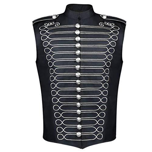 Chaleco gótico Steampunk vintage de un solo pecho para Halloween, uniforme de traje formal