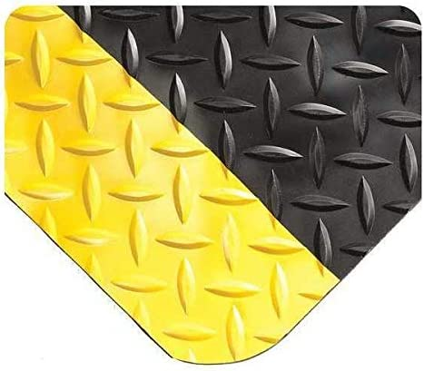 Wearwell Inc Black Yellow UltraSoft Diamond-Plate x Mat ft. 5 W Fort Las Vegas Mall Worth Mall