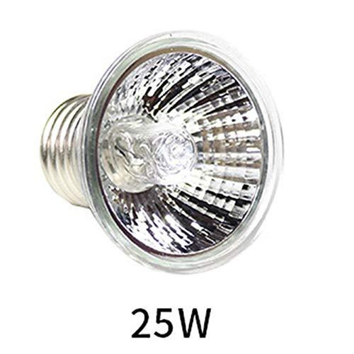 Rettile Basking Spot Climb Lampada per Animali Spettro Completo UVA UVB Tartaruga Tuff Lampada alogena antispruzzo Lampada da Sole Riscaldamento Tartaruga - Argento