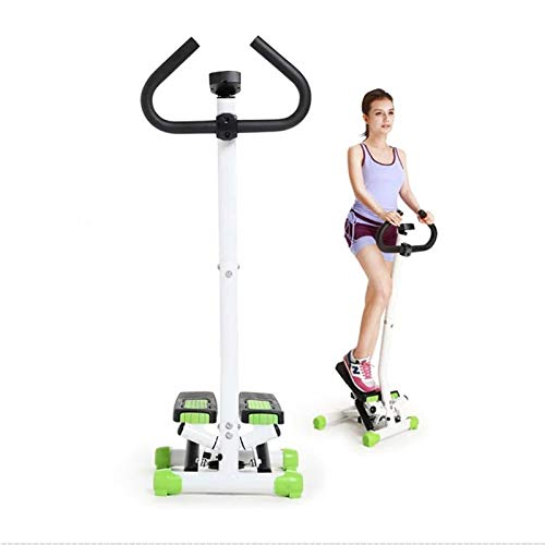 Find Bargain Indoor Handrail Mini Stepper Machine Fitness Stepper Exerciser Men Women Slimming Weigh...