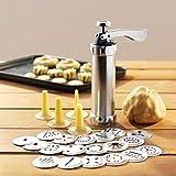 Cookie Maker Press Gun Kit - Biscuit Making and Icing Set,Cookie Press Pump Cream Mounting-Pattern Device Flower-Making DIY Cake Decorating Gun Food Grade Plastic Biscuit Maker