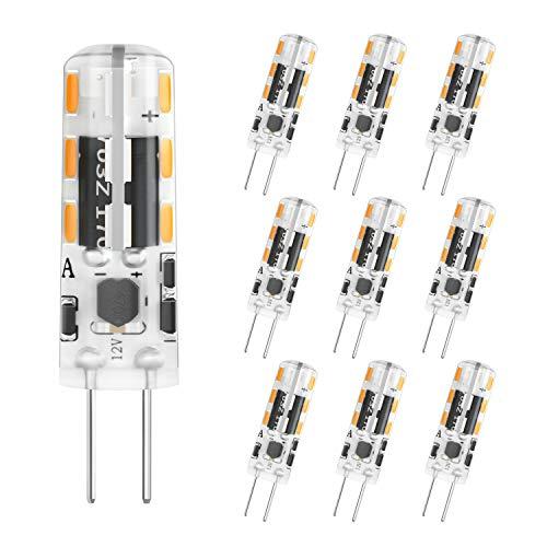 DiCUNO G4 LED Lampe 1.2W, AC/DC 12 V mit 120 LM, Warmweiß 3000k, SMD, Ersatz für 10W Halogen Lampen, Nicht dimmbar,Kein Flackern, 10-er Pack