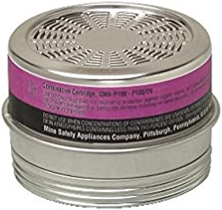 MSA 815178 Comfo Chemical and Combination Cartridge, Organic Vapor, P100 Filter Type (Pack of 6)