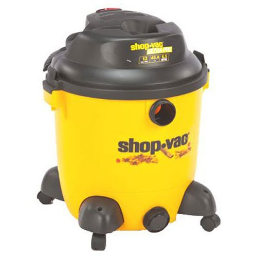 Shop-vac 9633400 6. 5-peak hp ultra pro series 12-gallon wet or dry vacuum with detachable blower with tool storage, uses type u cartridge filter type r foam sleeve & type f filter bag