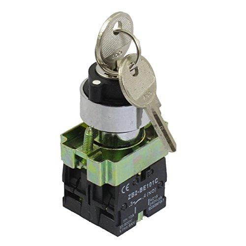 Tamkyo 22mm Bloqueo 2 NO Tres de 3 Posiciones Bloqueo Selector Interruptor de Seleccion ZB2-BE101C