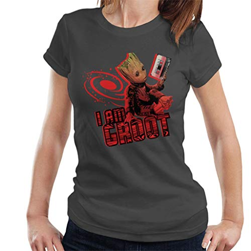 Marvel Guardians of The Galaxy Baby Groot Cassette Women's T-Shirt