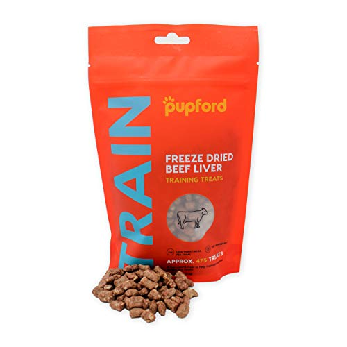 Freeze-Dried Training Treats for Dogs, 450 Treats Per Bag, Low Calorie, The Perfect High Value Training Reward (Comes in Beef Liver & Sweet Potato) (Liver)