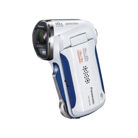 パナソニック デジタルムービーカメラ 防水&タフ設計 ホワイト HX-WA30-W