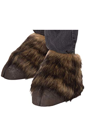 Forum Novelties Unisex-Adult's Animal Hooves Shoe Covers Party Supplies, Standard, Brown