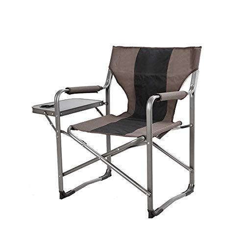ShiSyan Camping Silla Plegable portátil de Camp Silla Plegable de Aluminio de Malla Transpirable Pesca Que acampa de Silla del Director del jardín Silla al Aire Libre
