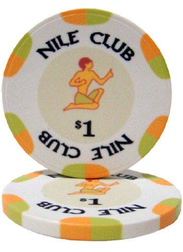 25 $ 1 Nile Club 10 Gram Ceramic Casino Quality Poker Chips
