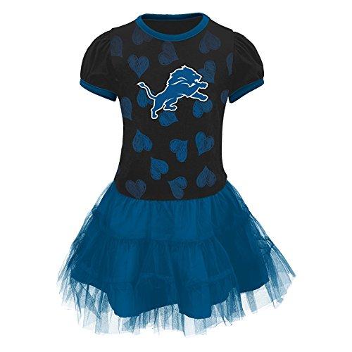 NFL Detroit Lions Girls Love to Dance Tutu Dress, Lion Blue, 4T