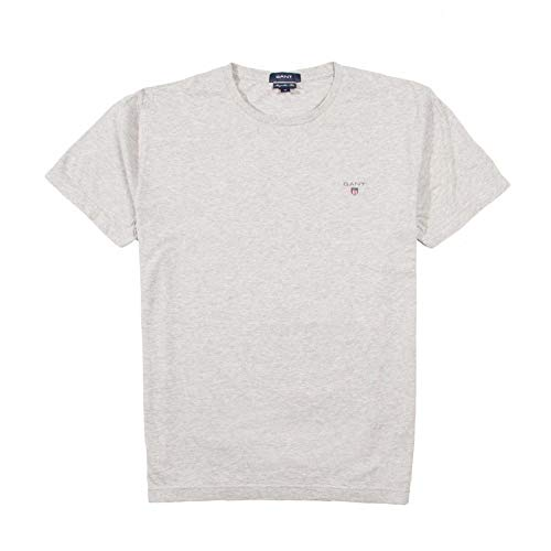 GANT Herren The ORIGINAL SS T-Shirt, Grau (Light Grey Melange 94), Medium (Herstellergröße: M)