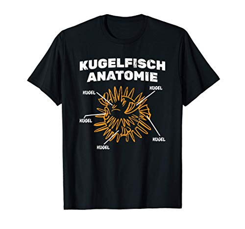 Kugelfisch Anatomie Aquaristik Meerestier Aquarium T-Shirt