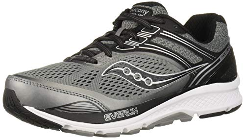 Saucony Men's Echelon 7 Running Shoe, Grey | Black, 9.5 M US