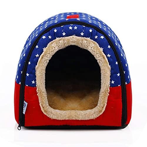 XXSHN LXYPLM Hundebett Katzenbett Haustiermatratze Deluxe Haustierbett 2 in 1 Haustiernest Rutschfestes Hundekatzenbett Faltbarer Winter Weicher Kuscheliger Schlafsack Mattenauflage Kissen Weiches