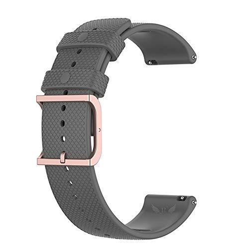 Pulseira Moderna V2 20mm Fivela Rose compatível com Samsung Galaxy Watch 3 41mm - Galaxy Watch Active - Galaxy Watch 42mm - Marca LTIMPORTS (Cinza)