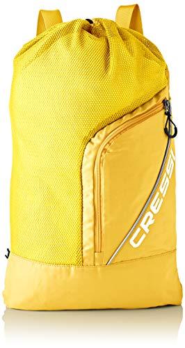 Cressi Unisex– Erwachsene Sumba Bag Sportrucksack mit Netz, Gelb, Eine Eine Größe